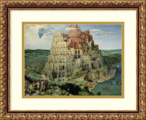 Framed Art Print 'Tower of Babel, 1563' by Pieter Bruegel the Elder