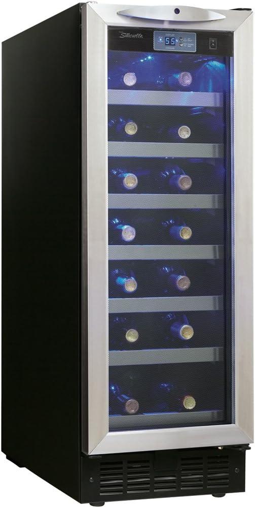 Danby DWC276BLS 27-Bottle Silhouette Wine Cellar – Black Stainless