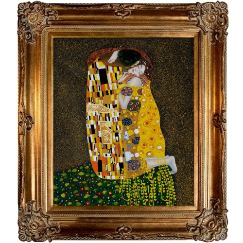 overstockArt The Kiss Full View Oil Painting by Klimt