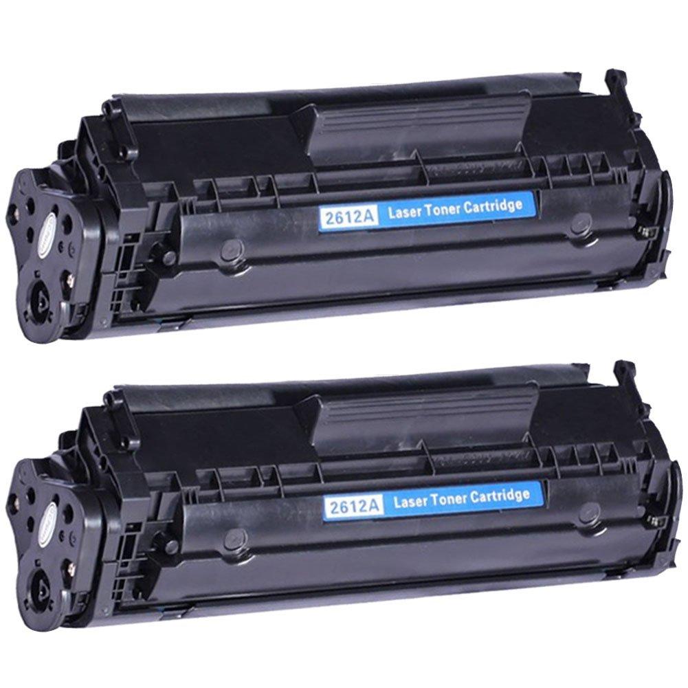 DOREE Q2612A/12A - Pack de 2 cartuchos de tóner láser para HP ...