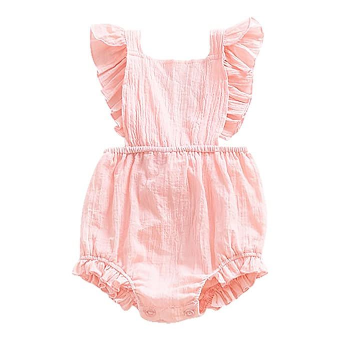 Minuya - Pelele - Sin Mangas - para bebé niña Rosa 18 Meses: Amazon.es: Ropa y accesorios