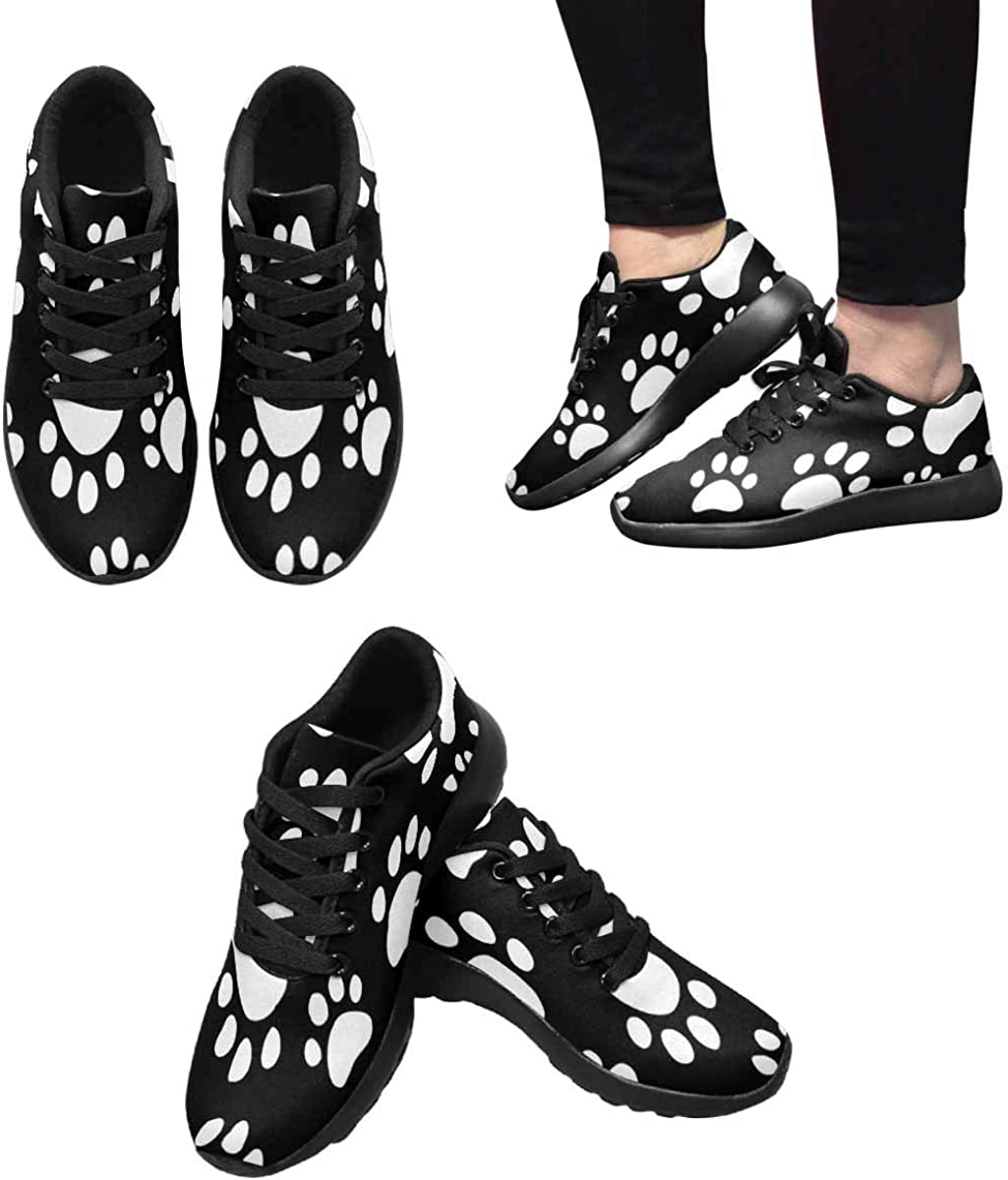 INTERESTPRINT Womens Jogging Sneakers Outdoor Sport Cross Training Shoes Flamingo Bird Pattern