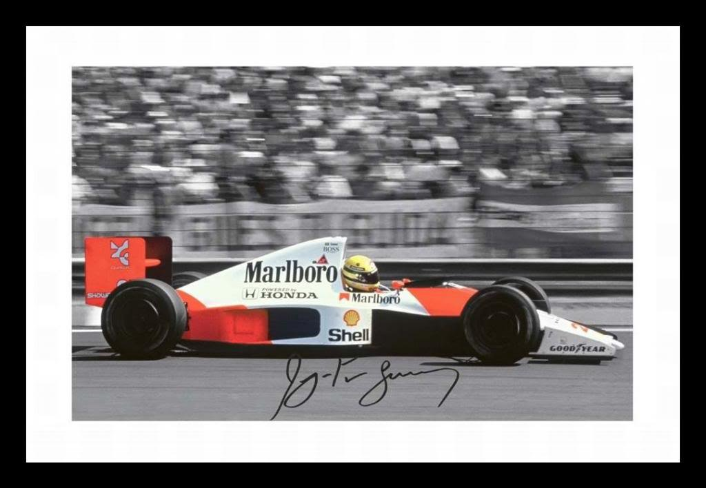 Ayrton Senna Autographed Signed And Framed Poster Photo DG