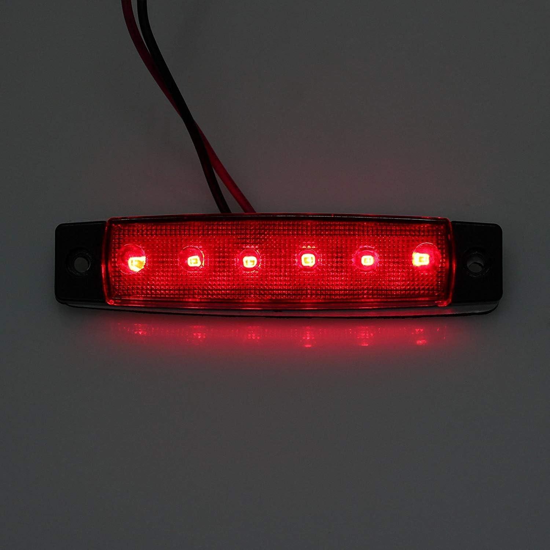 Gr/ün LED Truck Side Lights,10pcs LED Truck Side Lights 6 SMD-LED-Seitenmarkierungsanzeige Vorne Hinten Seitenlicht Positionsleuchten 12V f/ür Auto