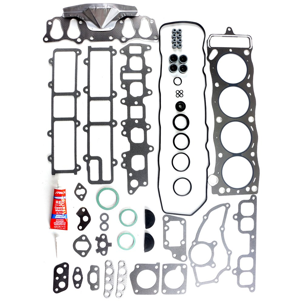 SCITOO Compatible with Cylinder Head Gasket Kits fit 85-95 Toyota 4Runner Pickup Celica 2.4L SOHC 22RE 22REC Engine Cylinder Head Gaskets Automotive Replacement Gasket Set