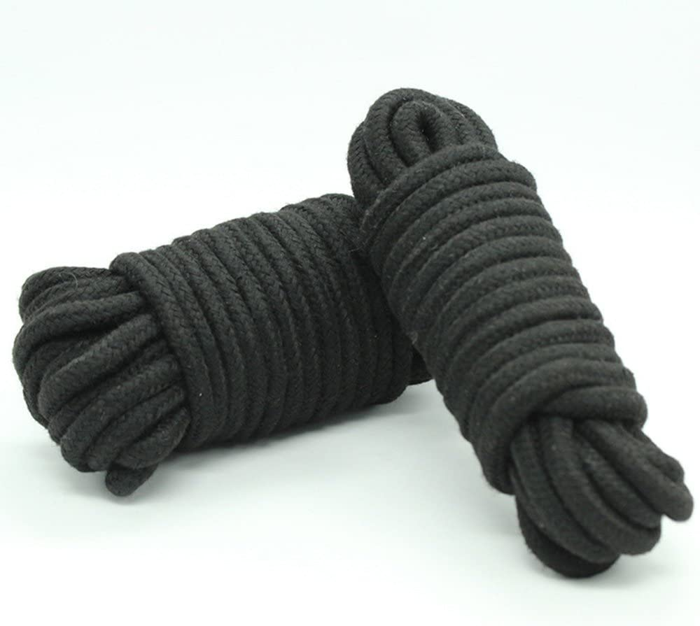 SUMMERWY Soft Rope Cord 2Pcs 10 M//33 Feet 8 MM All Purpose Cotton Rope Craft Rope Thick Cotton Cord Black+White