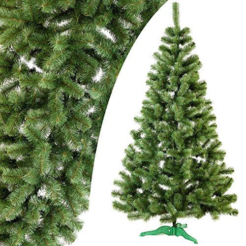 Handgefertigt Künstlicher Weihnachtsbaum Tanne aufklappbar mit Ständer | Lea, grün, 100cm/~3ft