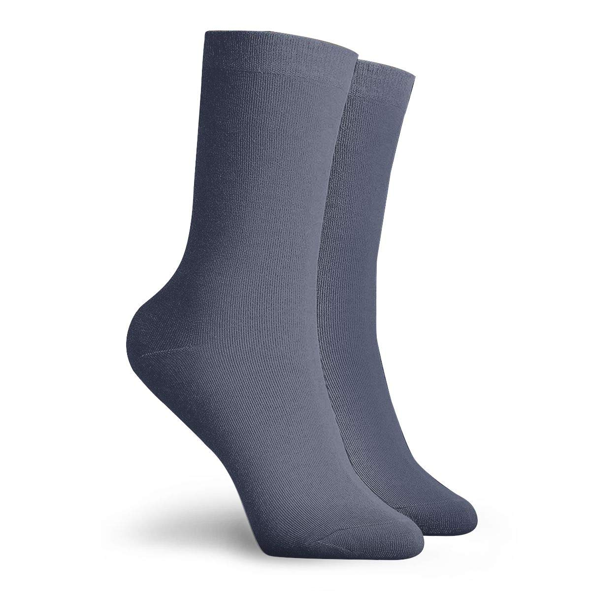 Color Navy Blue Unisex Funny Casual Crew Socks Athletic Socks For Boys Girls Kids Teenagers