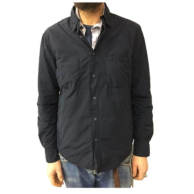 0f11d3bc89 ASPESI giacca camicia uomo blu mod ALVARO I002 F973 80% poliestere ...