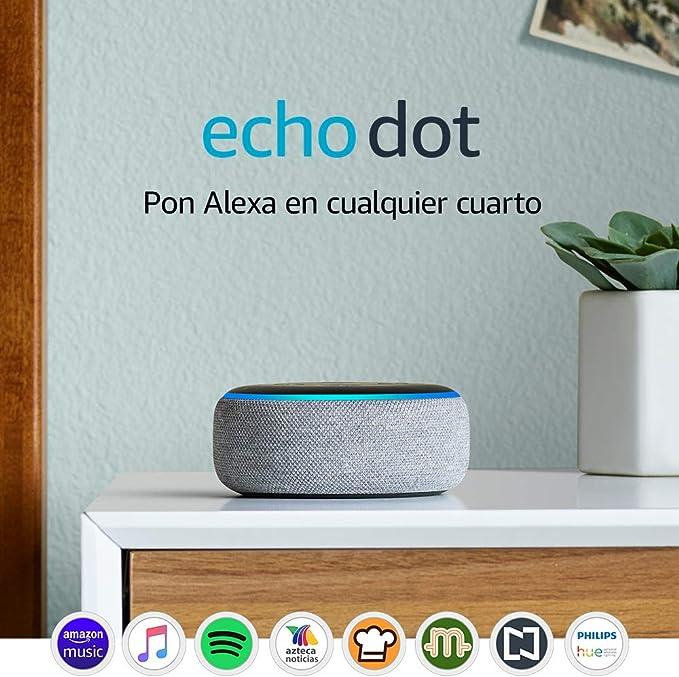 Echo Dot (3ra generación) - Bocina inteligente con Alexa, gris oscuro: Amazon.com.mx