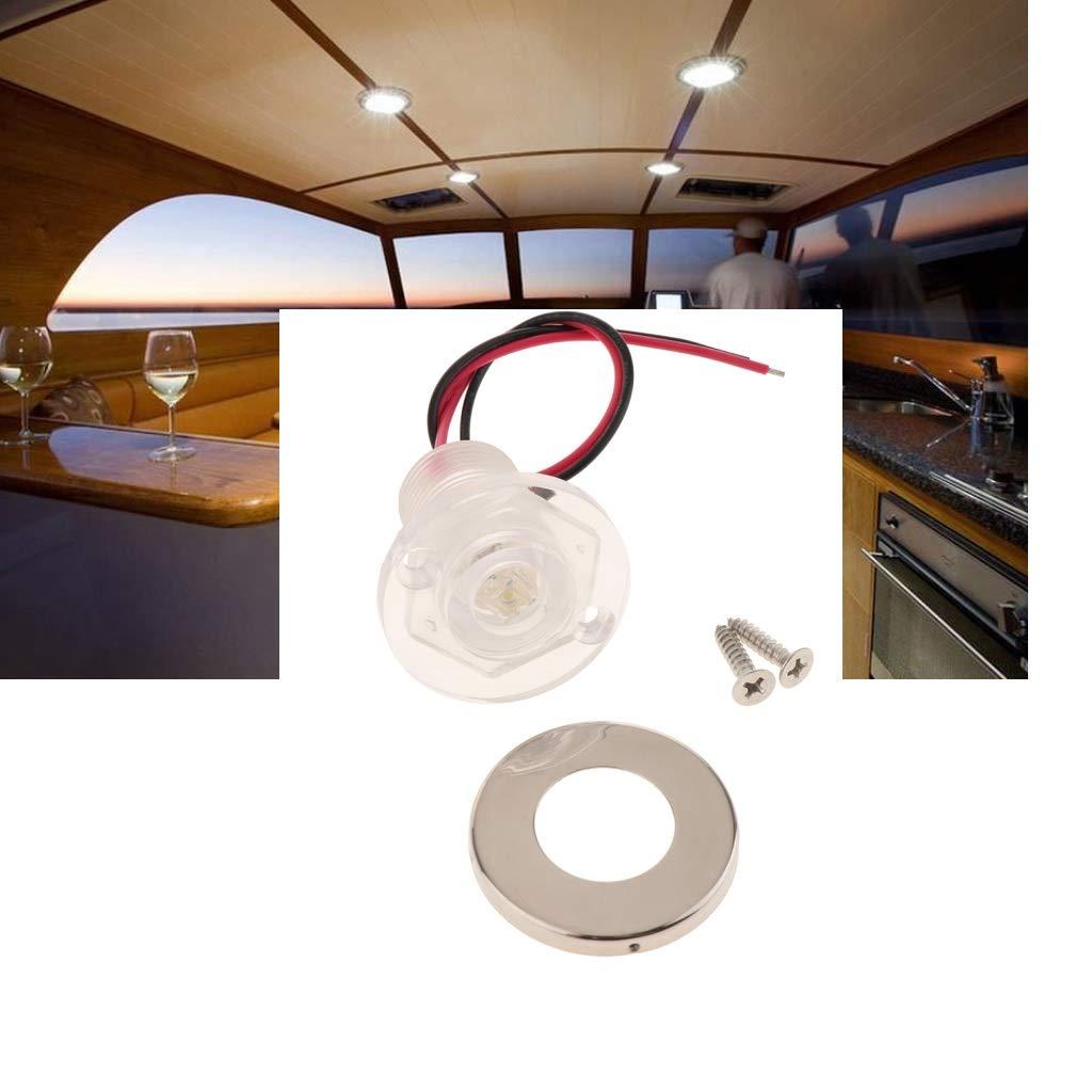 Yachts Skeeter Bateaux P/êche perfk Lampe Signal Navire 12V Feu Navigation /à LED T/ête M/ât Bateau Feu de Port Standard Imperm/éable pour Pontons