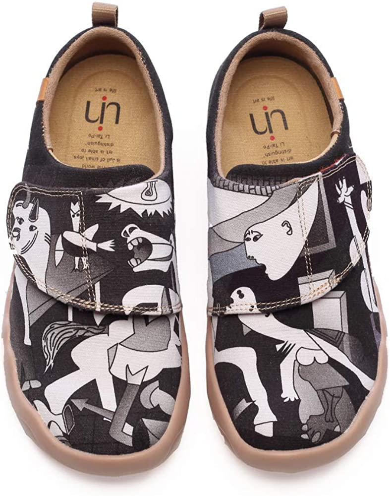 UIN Kids Girl Boys Pedro Painted Canvas Slip Loafer Sneaker Shoes