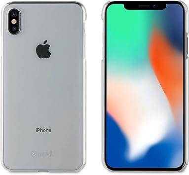 Muvit Cristal - Pack de Funda para Apple iPhone XS MAX y Protector Pantalla (Vidrio Templado Plano) Transparente: Amazon.es: Electrónica