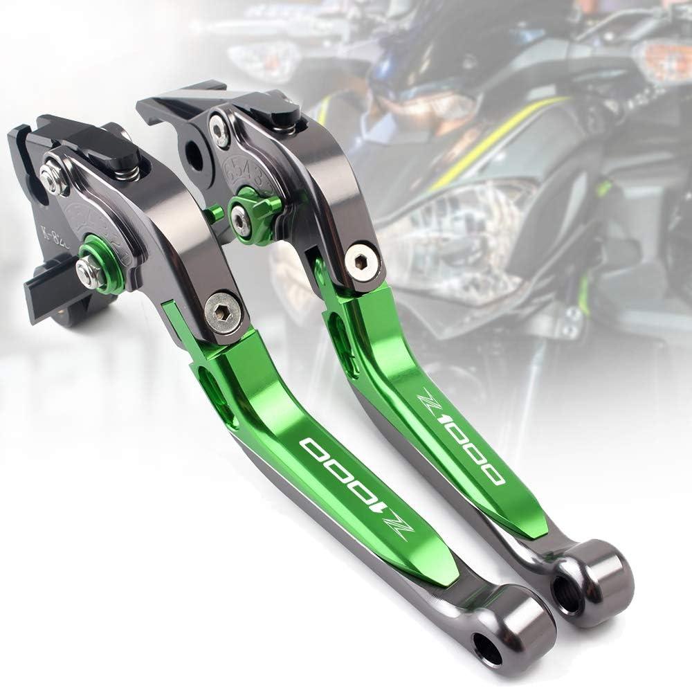 leviers frein et dembrayage en aluminium r/églable pour kawasaki z650/Z750/Z800/Z900/Z1000/Z1000SX ZX6R Kawasaki Z800//E version titanio-verde-titanio