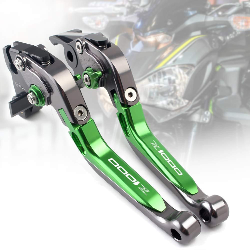 plegable Palanca de freno y embrague para motocicleta CNC extensible para Kawasaki Z650 Z750 Z800 Z900 Z1000 Z1000SX ZX6R palanca de embrague de freno ajustable juego de palancas de aluminio