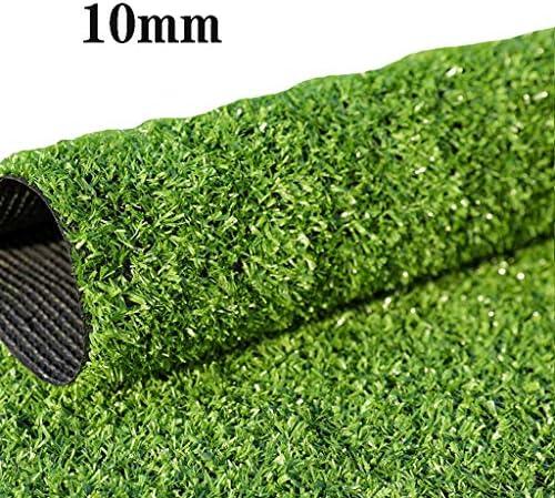 Kunstrasenteppich im Freien 10 mm hochgrüner Verschlüsselungsrasen natürlicher naturgetreuer Garten Kunstrasen (1M x 2M) YNFNGXU (Size : 2x10m)