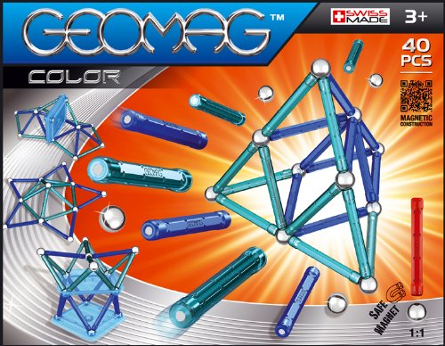 Review Geomag 40-Piece Color Construction