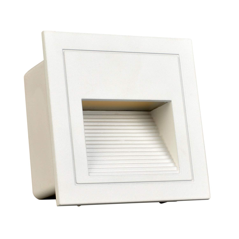arotelicht led step light (warm white, 4pcsset, white cover
