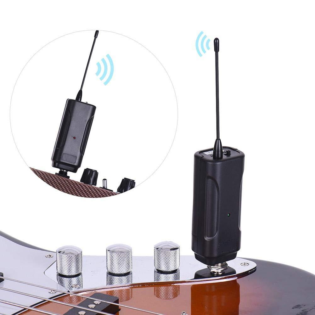 Favourall Sistema inalámbrico de Guitarra, Instrumento de Guitarra Transmisor inalámbrico de Audio Receptor inalámbrico portátil Sección V para Guitarra ...