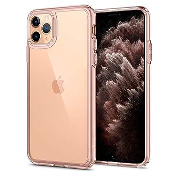 【Spigen】 iPhone 11 Pro ケース 5.8インチ 対応 背面 クリア 米軍MIL規格取得 耐衝撃 カメラ保護 衝撃吸収 Qi充電 ワイヤレス充電 ウルトラ・ハイブリッド ACS00418 (ローズ・クリスタル)
