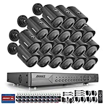 Annke AHD 24CH 720p Security Camera System 1080N DVR Reorder and (20) HD 1280TVL Indoor/Outdoor CCTV Cameras with IP66 Weatherproof, Motion Detection, NO HDD