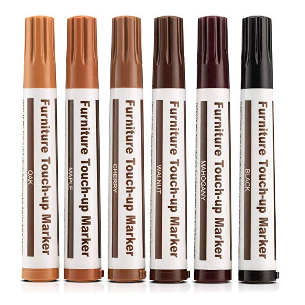 DEtrade Reparaturset Wax Sticks Marker Set mit Reparaturflecken Kratzer Wachs klebt Marker Bleistiftspitzer f/ür M/öbel