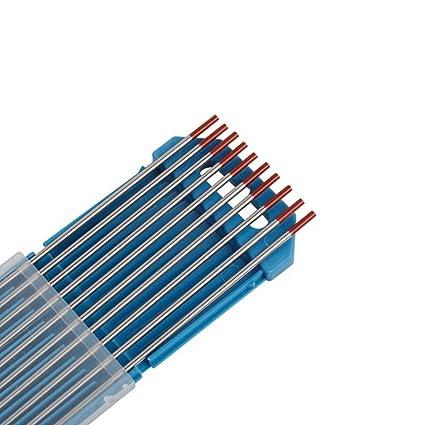10X Aguja de Electrodo de Tungsteno WT-20 2.4Ø x 175 mm Soldadura TIG