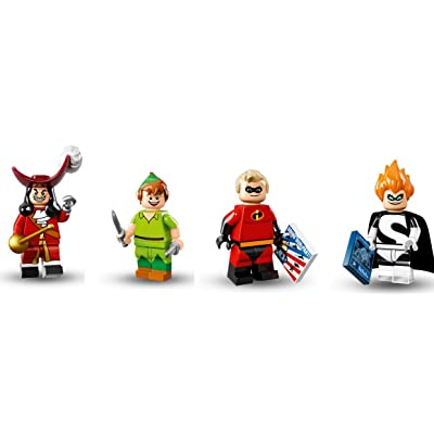 LEGO Captain Hook, Peter Pan, Mr. Incredible, and Syndrome Minifigures Disney: Toys & Games