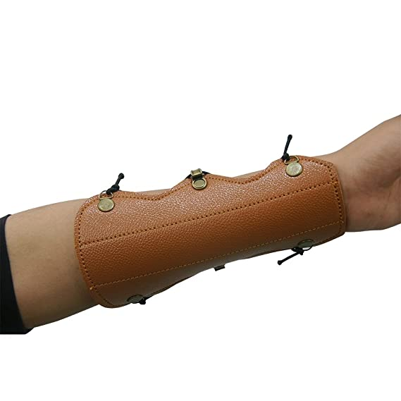Schwarz SPORTSMANN Bogensport Armschutz Pfeil Hut Jagd Armschoner mit Unterarmschoner Shooting Schutzh/ülle Leder Armband