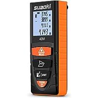 Suaoki D8 40M Télémètre Laser Metre Laser Numérique Intelligent LCD Rétro-éclairé 4 Pouces Mode Mesure à Distance/Mesure Continue/Zone/Pythagoricien