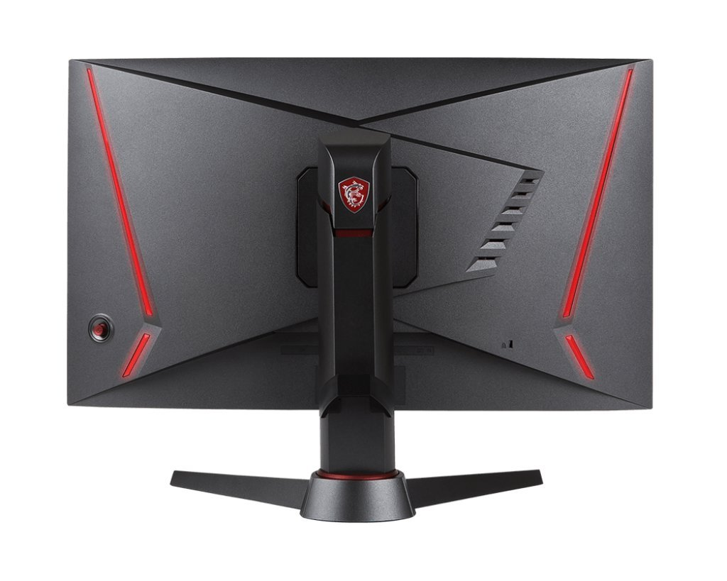 """MSI Full HD Gaming Red LED Non-Glare Super Narrow Bezel 1ms 1920 x 1080 144Hz Refresh Rate Adjustable Height Arm FreeSync 27"""" Curved Gaming Monitor (Optix MAG27C)"""