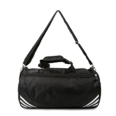12c505f9ac BKID Sports Gym Bag Travel Duffle Bag Travel Organizer Bag with Shoes  Compartment for Men Women (Black+Silver)  Amazon.co.uk  Clothing