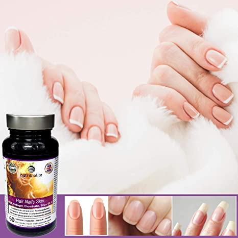 Cabello Piel y Uñas el Suplemento más Completo MSM Sílice Condroitina Colágeno y Vitamina C Producción de Colágeno Elastina y Queratina Tratamiento ...