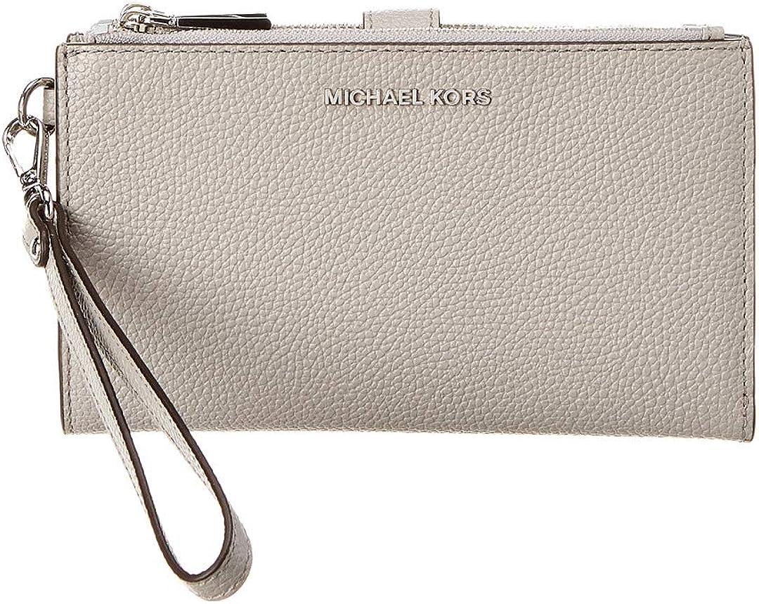 MICHAEL Michael Kors Double Zip Wristlet Pearl Grey One Size
