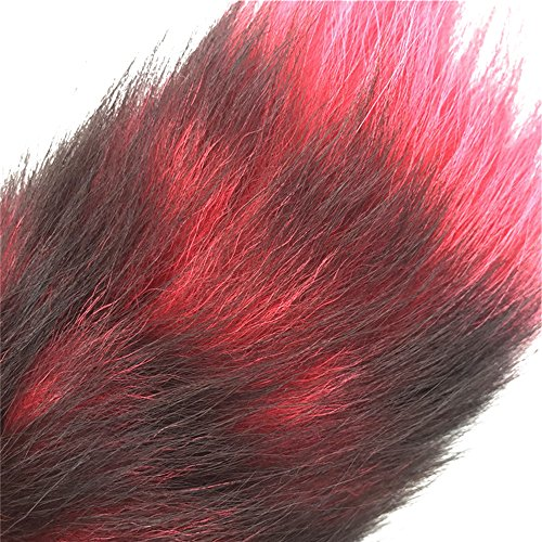 Joycentre Red Faux Fox Tail Stainless Steel Fun Plug Romance Games Play Party Toy Love Gift for High Happy,Style 3 (M) by Joycentre (Image #3)