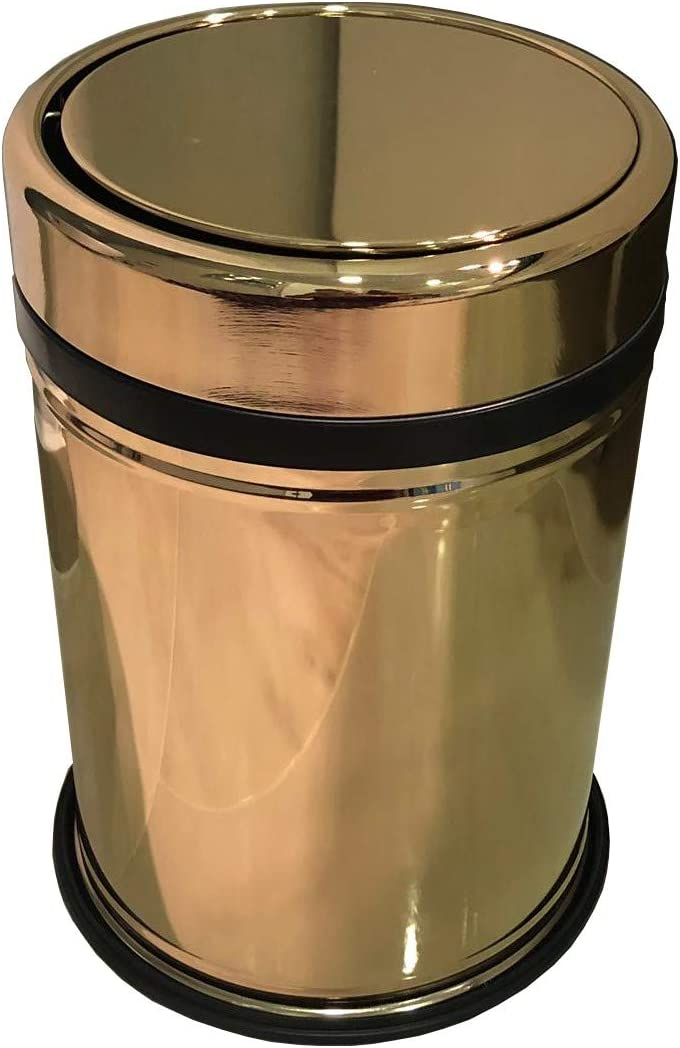 Swing Top Lid Trash Can 2 1 2 9 4 2 5 2 7 1 8 4 11 9 Gal Swing Lid Waste Can Trash Can Kitchen Bathroom Accessories Gift 11lt 2 9 Gallon Gold Amazon Co Uk Kitchen Home