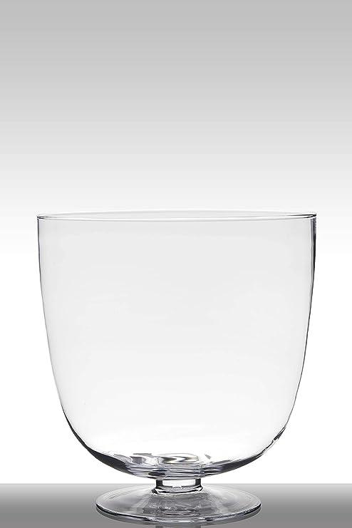 INNA-Glas Set 2 x Portavelas de Cristal para Mesa Shirley con pie ...