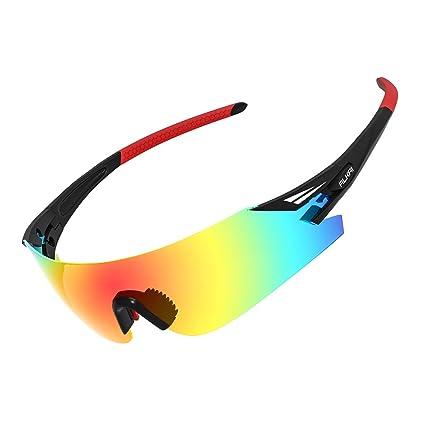 Amazon.com  ALKAI Men s Apollo Polarized Sport Sunglasses  Sports ... 21231a94099e