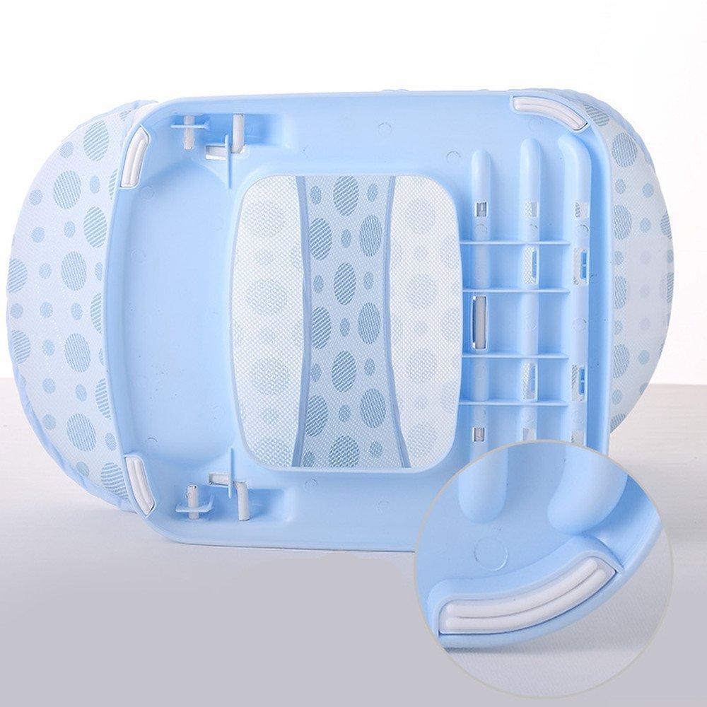 ZZYOU Summer Baby Bathing Tubs Seats Baby Bather Folding Bath Chairs Infant Bath Beds Bath Racks Blue