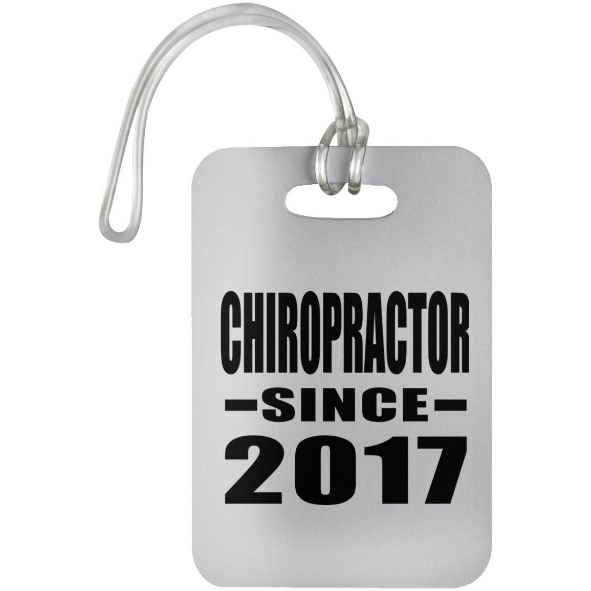 Designsify Chiropractor Since 2017 - Luggage Tag Étiquette de Valise Croisière Valise Baguage - Cadeau pour Anniversaire Fête des Mères Fête des Pères Pâques