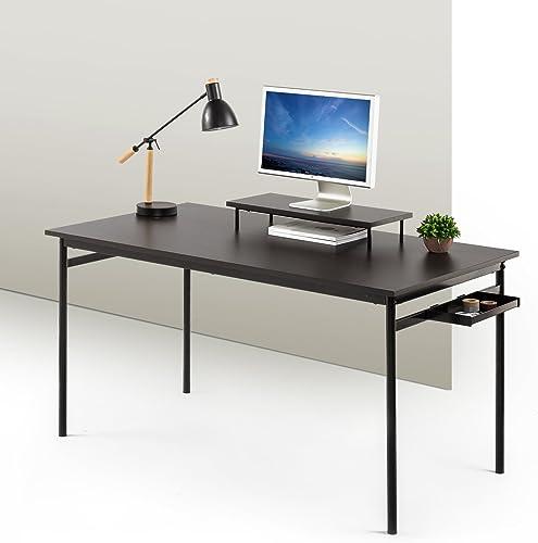 Zinus Tresa Computer Desk Workstation in Espresso, Large