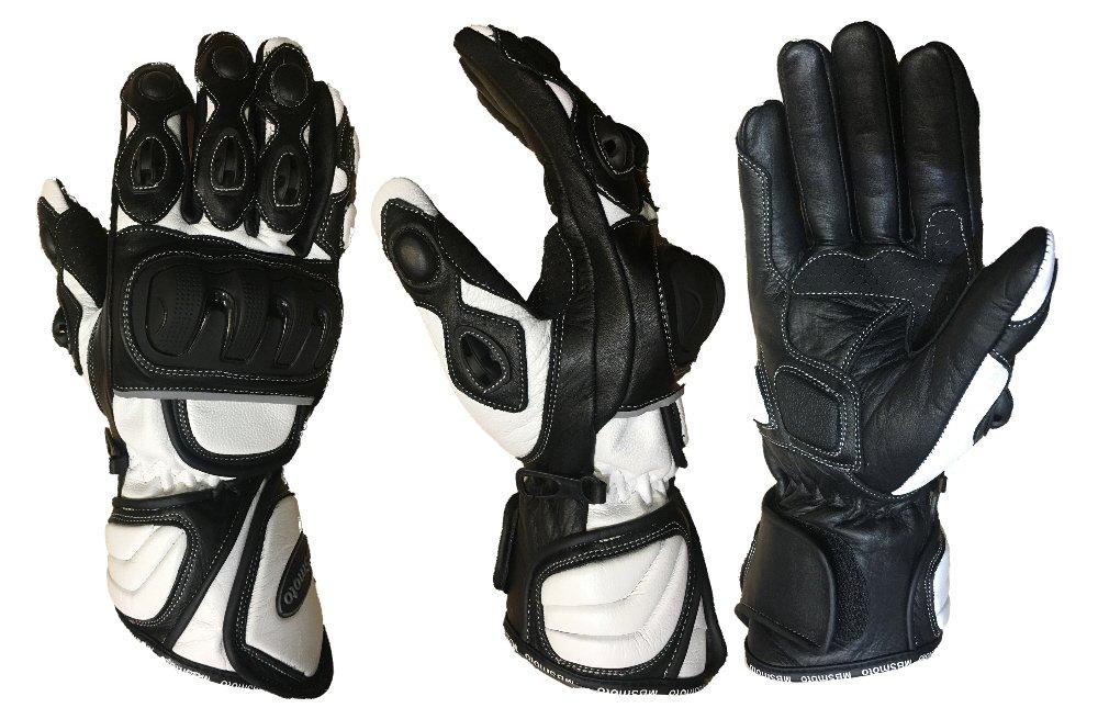 Guantes largos de piel MBSmoto para deportes de motociclismo y motocicleta Touring