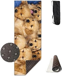 Vercxy - Esterilla de Yoga para Cachorro de Golden Retriever, con Forro Antideslizante, fácil de Limpiar, sin látex, Ligera y Duradera, 180 cm de Largo x 61 cm de Ancho