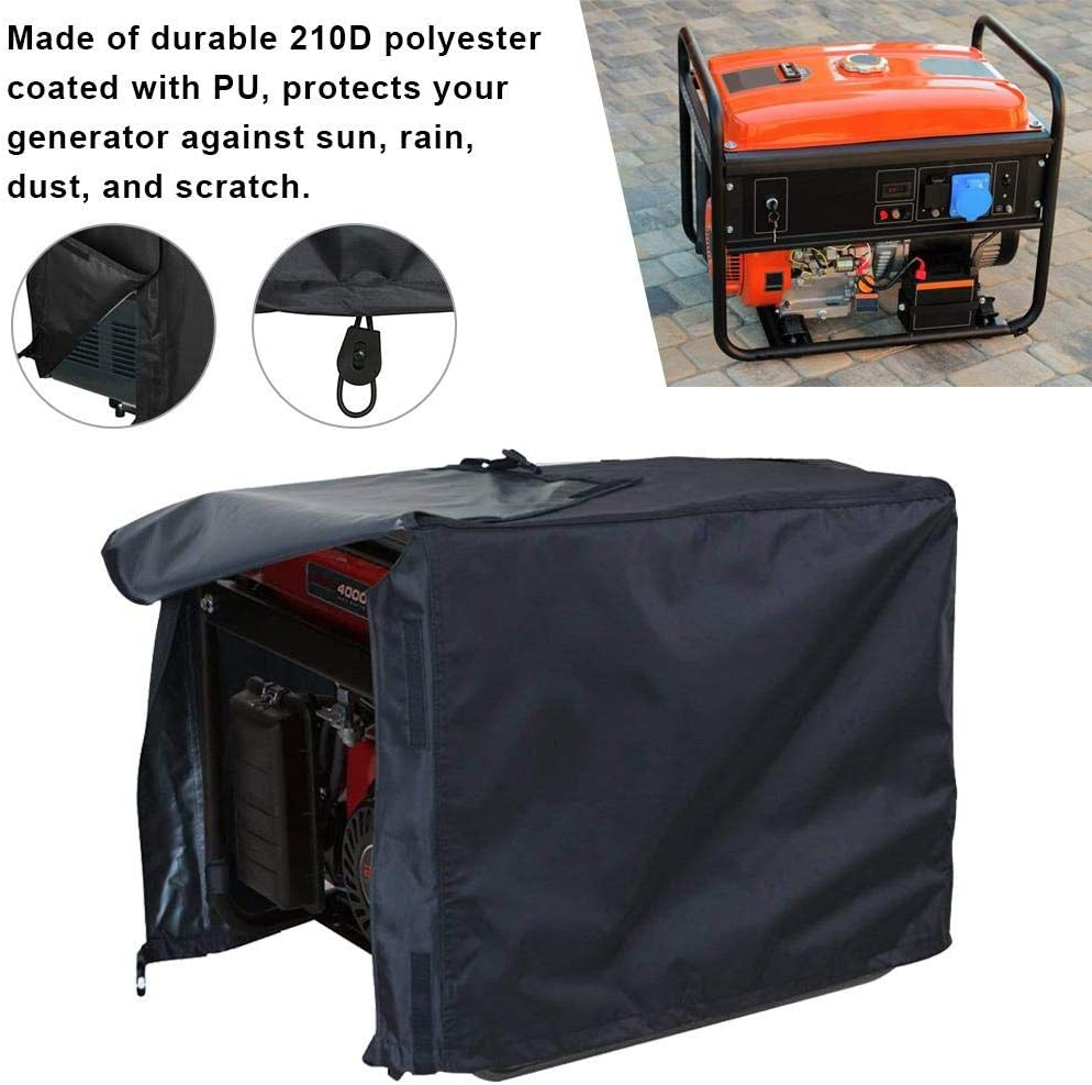 Generator Cover With Frame Tent Waterproof Outdoor Waterproof Large Generator Cover For Generator Protection Black Snow Proof Rainproof Multiple Sizes Without Support Frame Anti Scratch And Reduce Dust