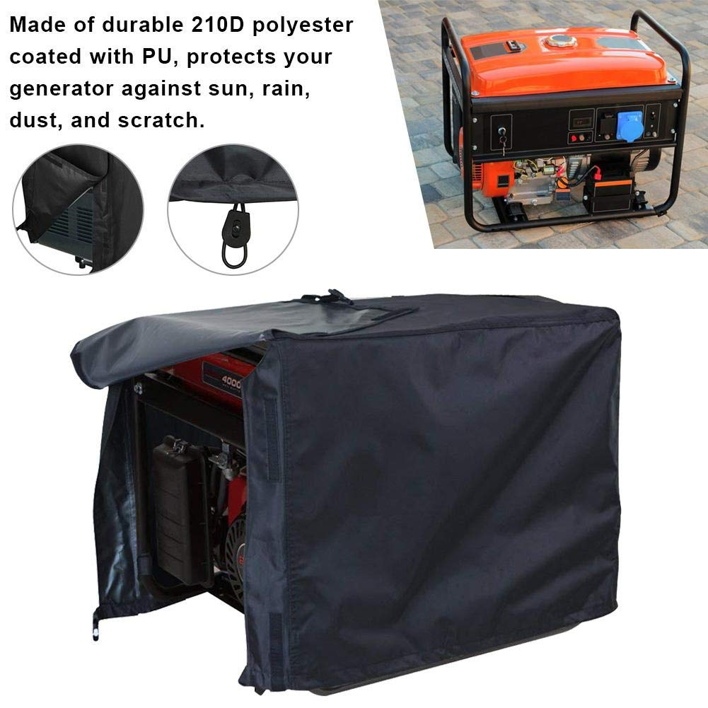 Wendysy Waterproof UV Resistant Universal Generator Cover Generator Running Cover Portable Safety Generator Accessories Super Heavy Duty Tarpaulin Enclosure for Most Generators by Wendysy