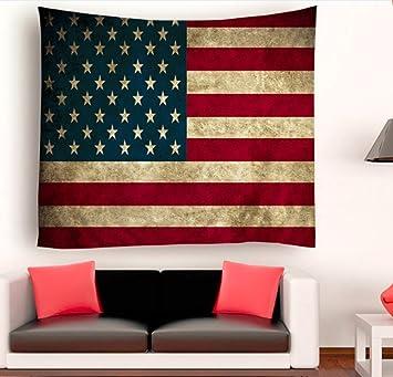 Livilan Modern Tapestry Wall Hanging American Flag 60x80 Inch