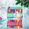 GirlZone: Hair Chalk Set For Girls, 10 Piece Temporary Hair Chalks Color