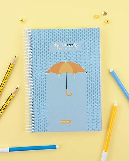 Casterli - Agenda Escolar 2019-2020 Have Fun - Día Página, Tamaño A5 (Umbrella)
