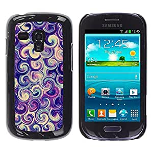 TaiTech / Hard Protective Case Cover - Purple Candy Surf Swirl - Samsung Galaxy S3 MINI NOT REGULAR! I8190 I8190N by ruishername