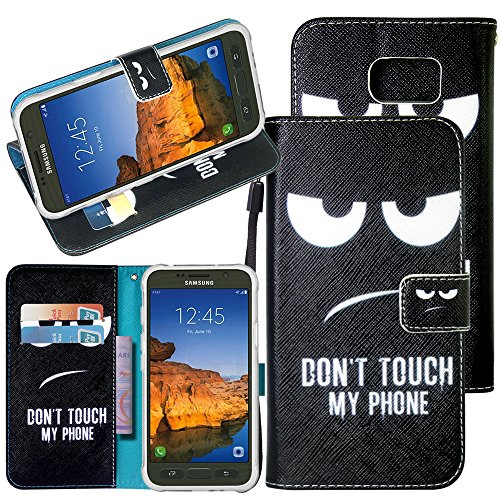 Galaxy S7 Active Case, Harryshell Wallet PU Leather Flip Stand View Case Cover with Card Slots & Wrist Strap for Samsung Galaxy S7 Active